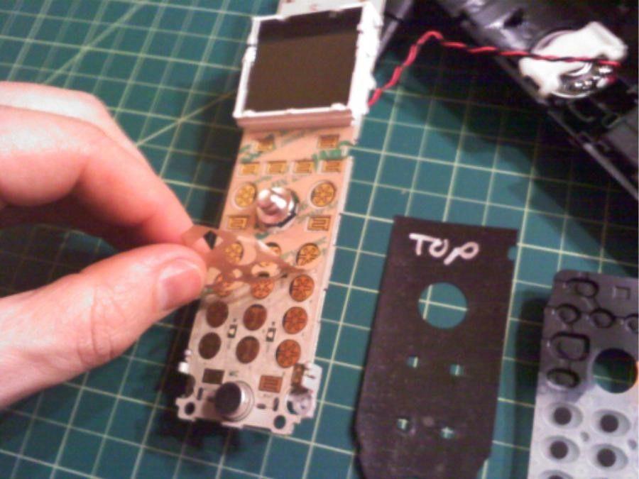 مراحل تعمیر صفحه کلید تلفن پاناسونیک