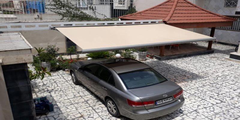 سایبان پارکینگ حیاط