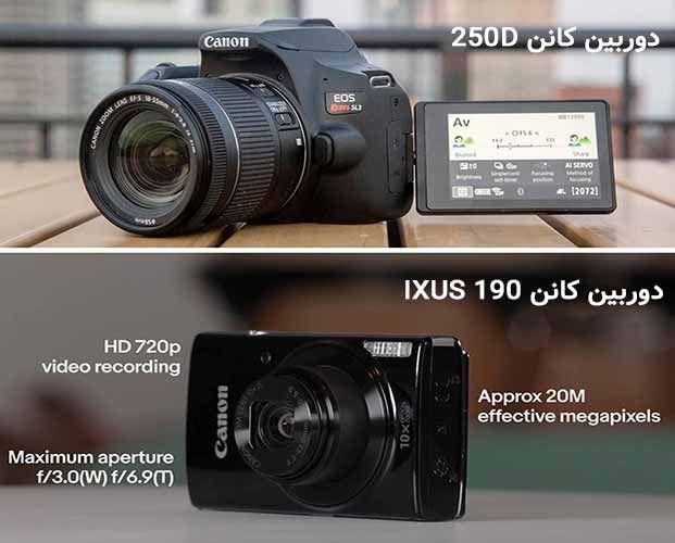 دوربین های کانن مدل 250D و IXUS 190