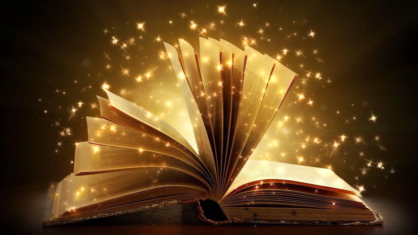 تصویری ا زیک کتاب که حس جادو را القا میکند