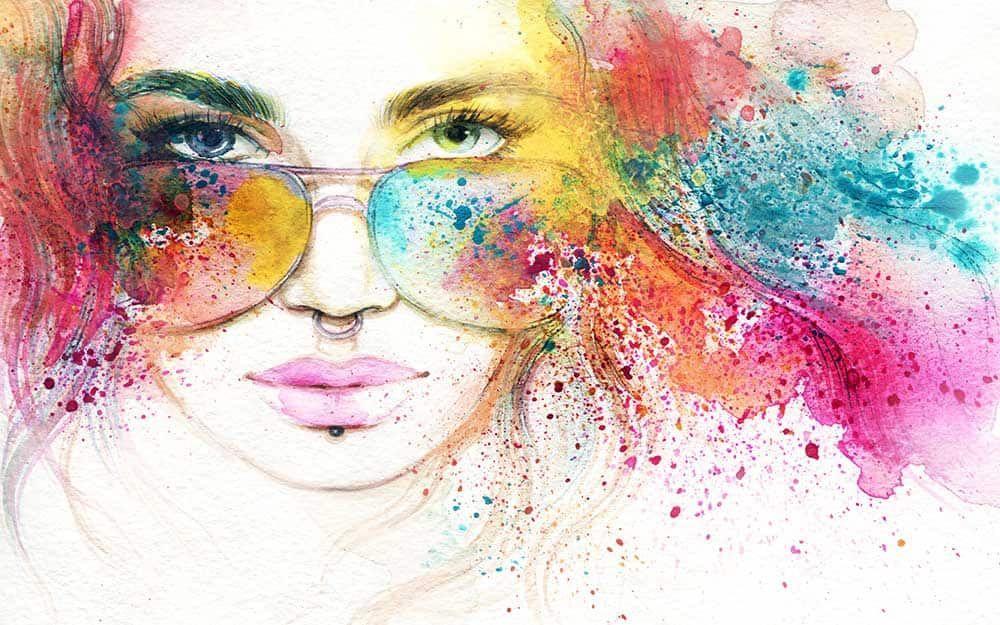 پوستر دیواری چهره ویژه آرایشگاه زنانه