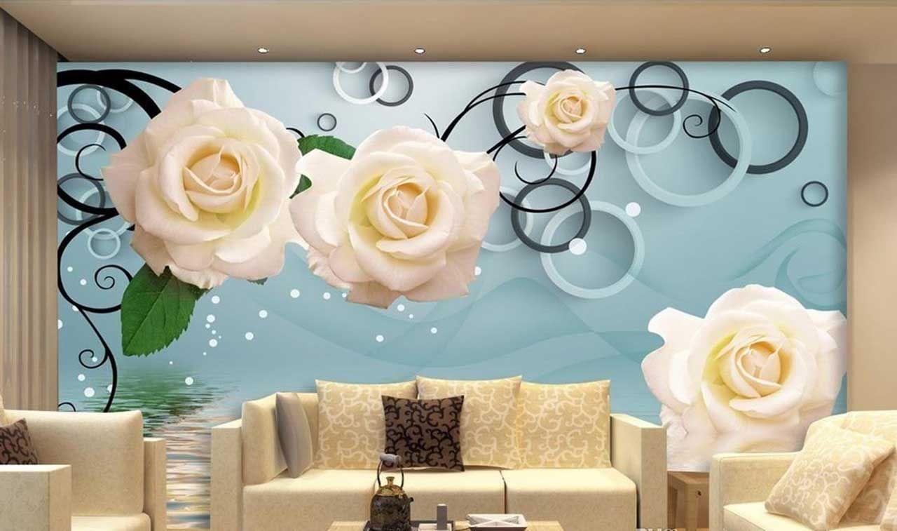 پوستر دیواری گل رز صورتی