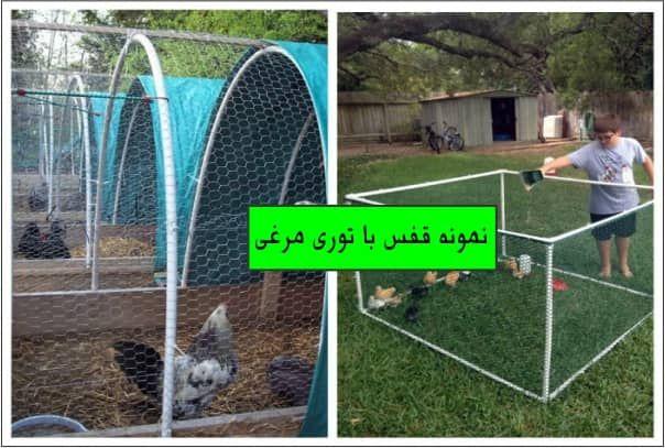 یک نمونه قفس توری مرغی